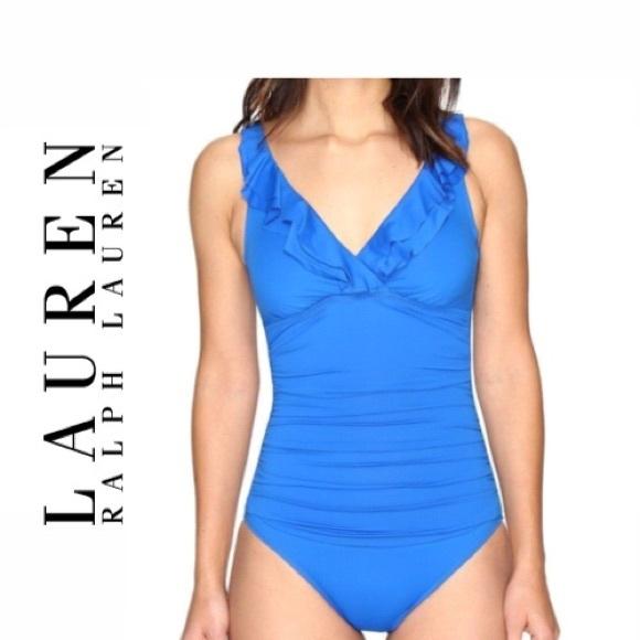 1e5eadb2b0f Ralph Lauren Beach Club Ruffle Mio Swimsuit
